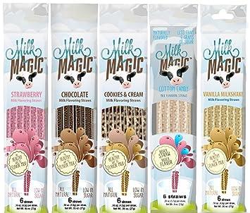 Milk Magic - Pajitas de sabor a leche (36 pajitas), sabores: vainilla
