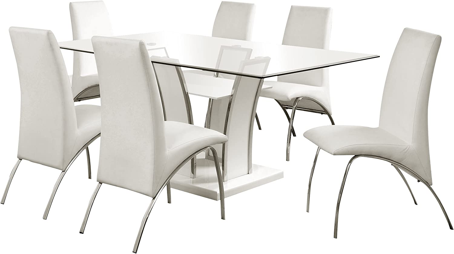 247SHOPATHOME Dining room set, White