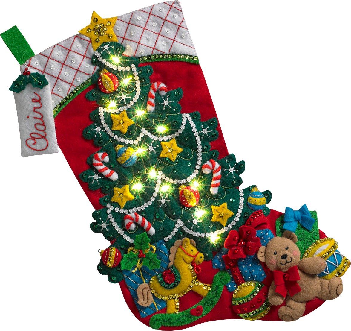BUCILLA 86710 Christmas Tree Surprise Stocking Kit by Bucilla