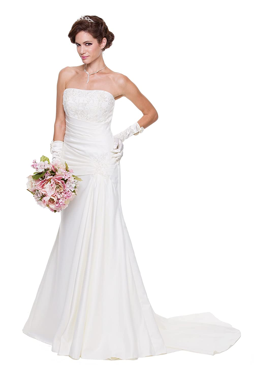 Juliet satin mermaid wedding gown at Amazon Women\'s Clothing store: