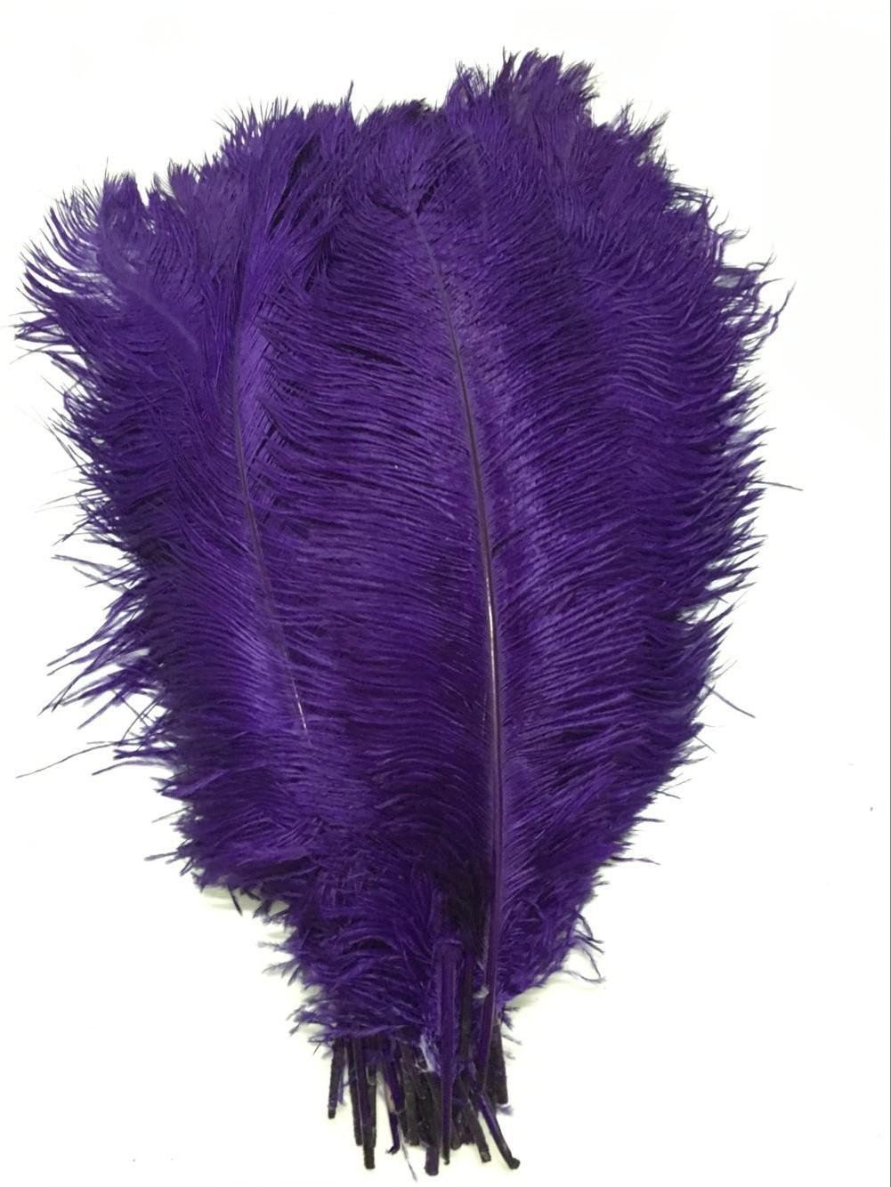 KOLIGHT30pcs Ostrich Feather Purple 12''-14'' Natural Feathers Wedding, Party,Home,Hairs Decoration