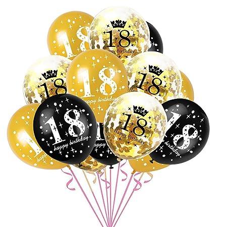 chongfujiancai Globo de Fiesta de cumpleaños, 15 Piezas para ...