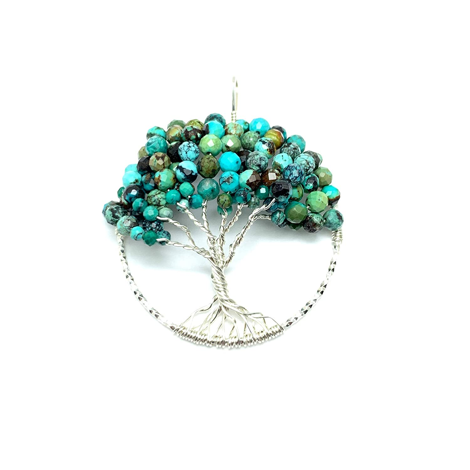 Sterling Silver Turquoise Pendant December Birthstone Jewelry Natural Gemstone Jewelry Genuine Turquoise Necklace Gift For Girlfriend