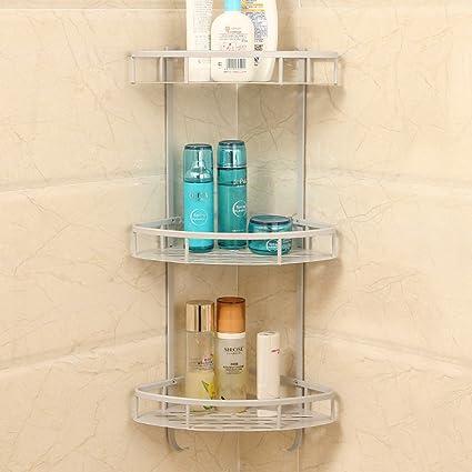 Amazon.com: Bathroom rack Free perforated racks bathroom space ...
