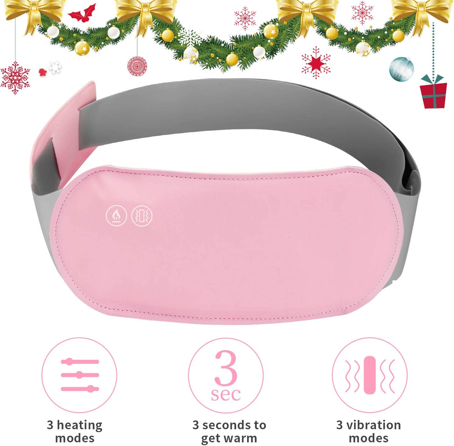 Portable Warm Palace Belt Heating Warming Waist Belt Warm Back Wrap USB Electric Heating Pad Belt Ladies for Stomache,Cramps,Dysmenorrhea,Pain Relief (Not Store Electricity, Heating & Vibration)