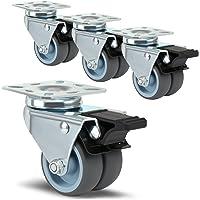 Lihao 4X meubelwielen met rem strandstoel wielen dubbele wielen gazon wielen voor meubels