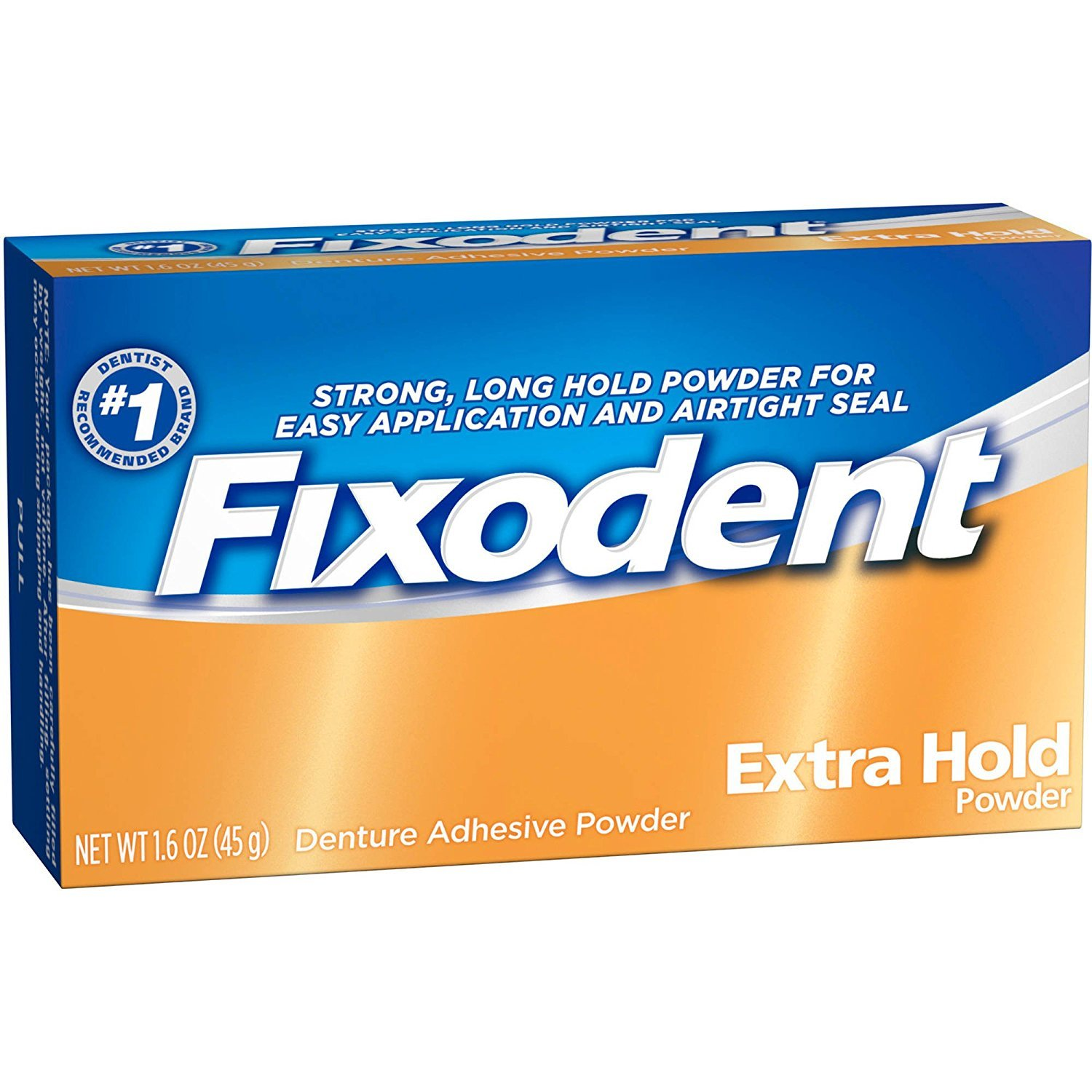 Fixodent Fixodent Denture Adhesive Powder Extra Hold, Extra Hold 1.6 Oz (Pack of 3) 076660725362