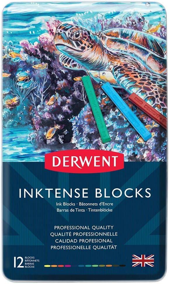 Derwent Inktense Ink Blocks, 12 Count (2300442)