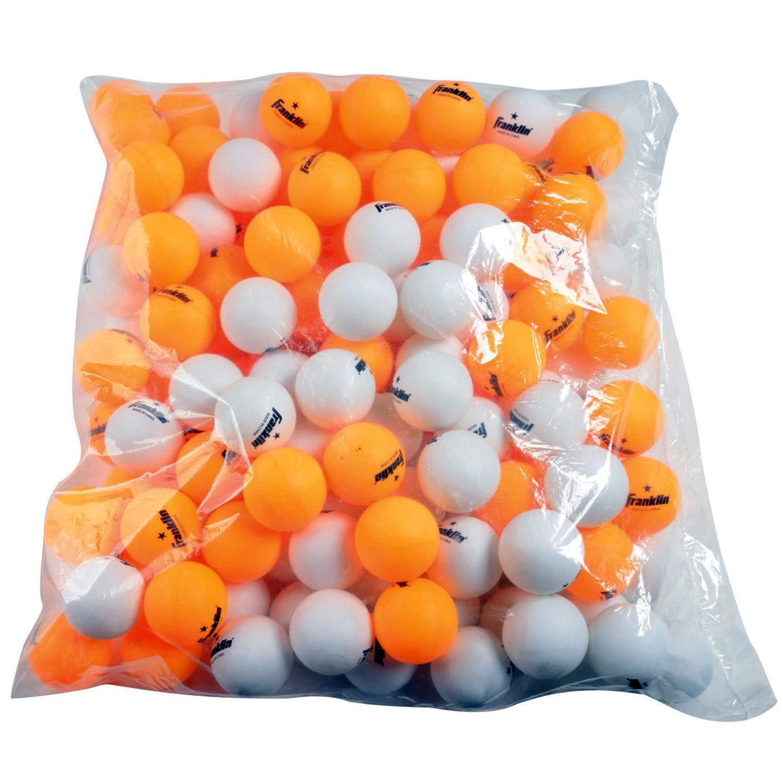 Franklin Sports 1 Star Table Tennis Balls (144 Count), White/Orange, 40mm
