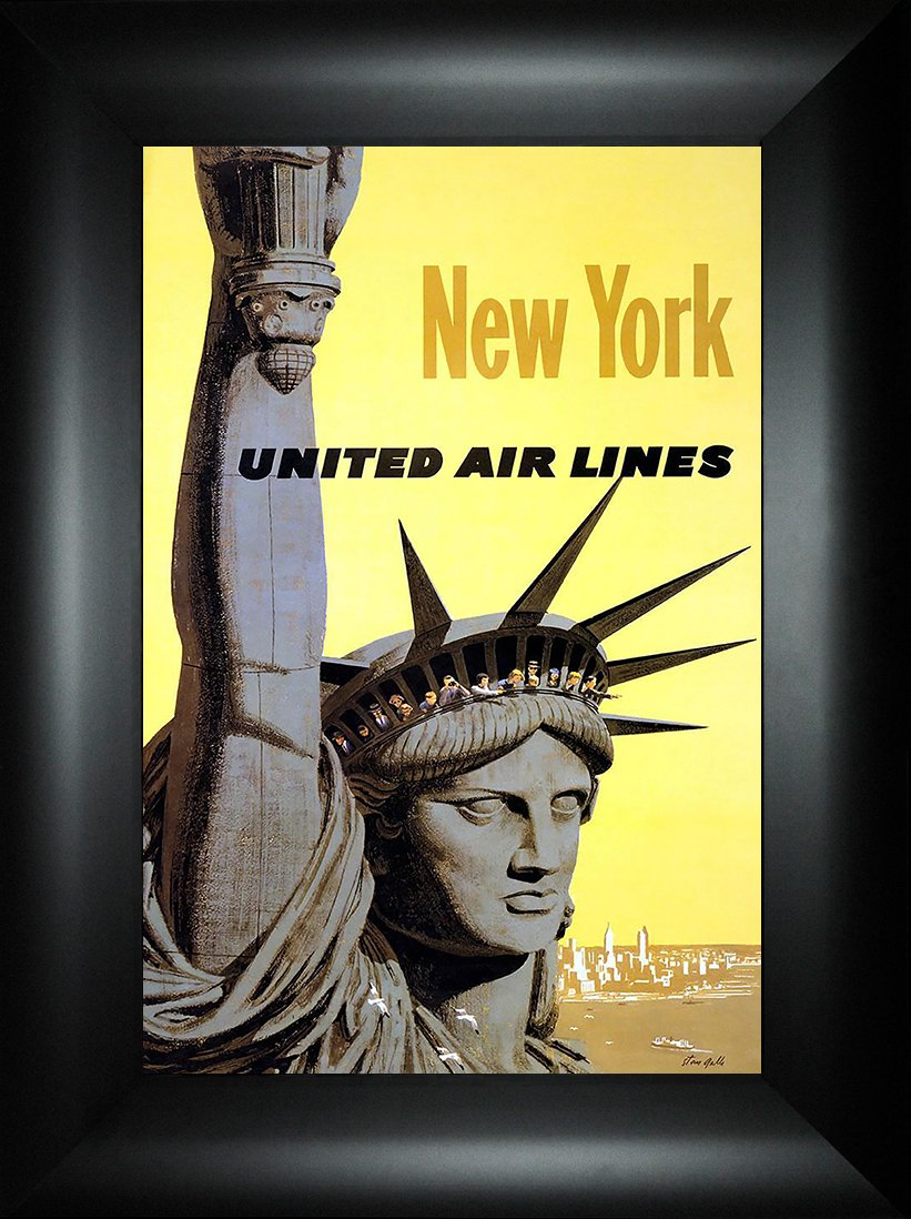 Amazon.com: New York 24x18 Travel Poster Big Apple Statue of Liberty ...