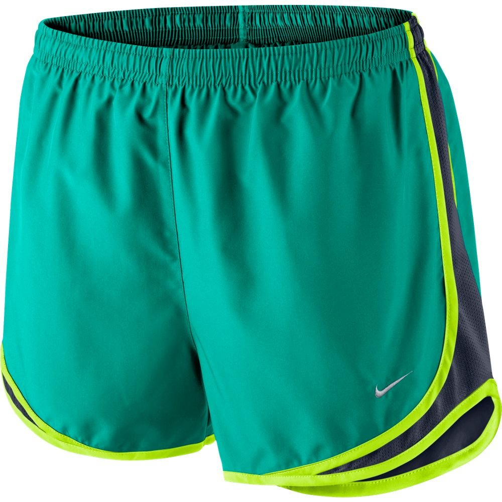 Nike Women's Tempo Short, Rio Teal/Obsidian/Volt/Wolf Grey XS X 3.5