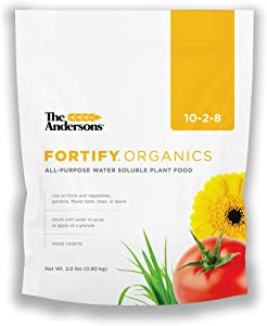 The Andersons Fortify Organics 10-2-8 All-Purpose Water Soluble Organic Plant Food - Covers up to 2,900 sq ft (2 lb)