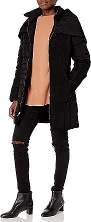 Cole Haan Women's Shawl Collar Taffeta Down Coat