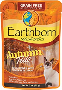 Earthborn Holistic Autumn Tide with Tuna & Pumpkin Grain-Free Wet Cat Food Pouches, Case of 24