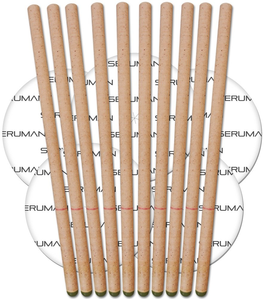 Amazon ear candles organic natural seruman therapeutics beeswax ear candles 5 pairs with protective discs solutioingenieria Image collections