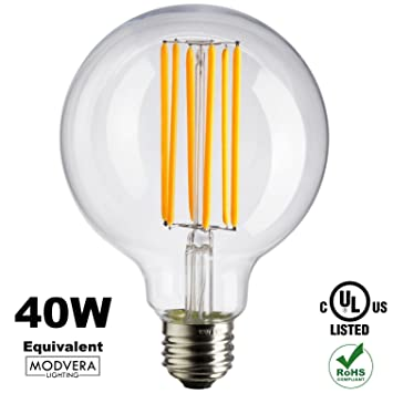 Modvera G25 LED Light Bulb Decorative Bathroom Lighting Globe Light Bulb 40  Watt Equivalent Uses Only