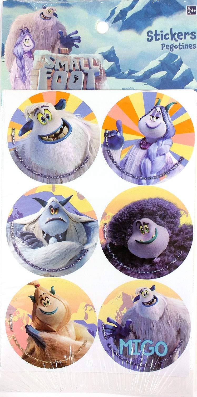 24 stickers per pack 2 diameter Amscan 2 diameter Smallfoot Stickers