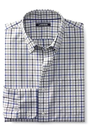 8847b93cc Lands  End Men s Traditional Fit No Iron Twill Shirt at Amazon Men s  Clothing store