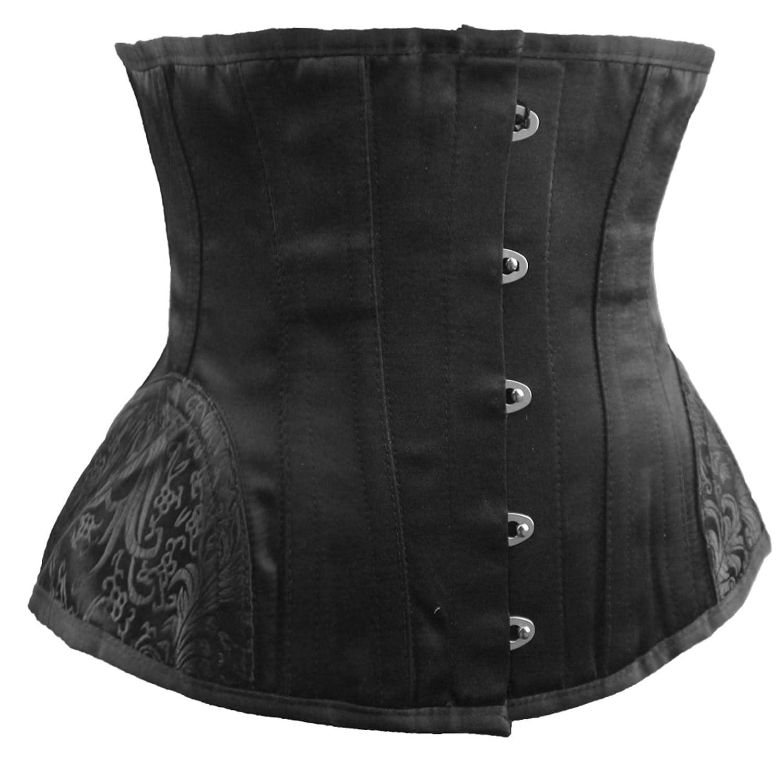 R-Dessous Damen Unterbrust Corsage schwarz Taillen Mieder Korsett Schnür Corset Steampunk Gothic Übergrößen