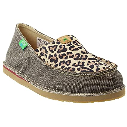 2bda5b5e94d Twisted X Boots Womens Ladies ECO Leopard Print Casual Loafer 5.5 B(M) US