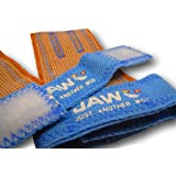 JAW Pullup Grips - Best Selling Hand Grip for WODs, Functional Fitness, Gymnastics & Weightlifting. Palm Protection Prevents Hand Rips & Tears Better Than Bulky Gloves