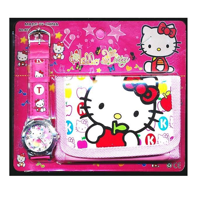 5 opinioni per Happy Bargains Ltd, Set con orologio e portafoglio di Hello Kitty, per bambine e