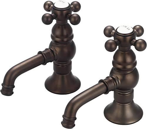 Water Creation F1-0002-03-PX Vintage Classic Basin Cocks Lavatory Faucet