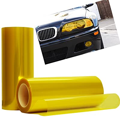 "Optix Yellow Tint Vinyl Film Gloss Headlight Fog Lights - 12"" x 36"" Inch: Automotive"