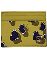 Gucci Heart Heartbeat Yellow Leather Card Case Wallet 334483