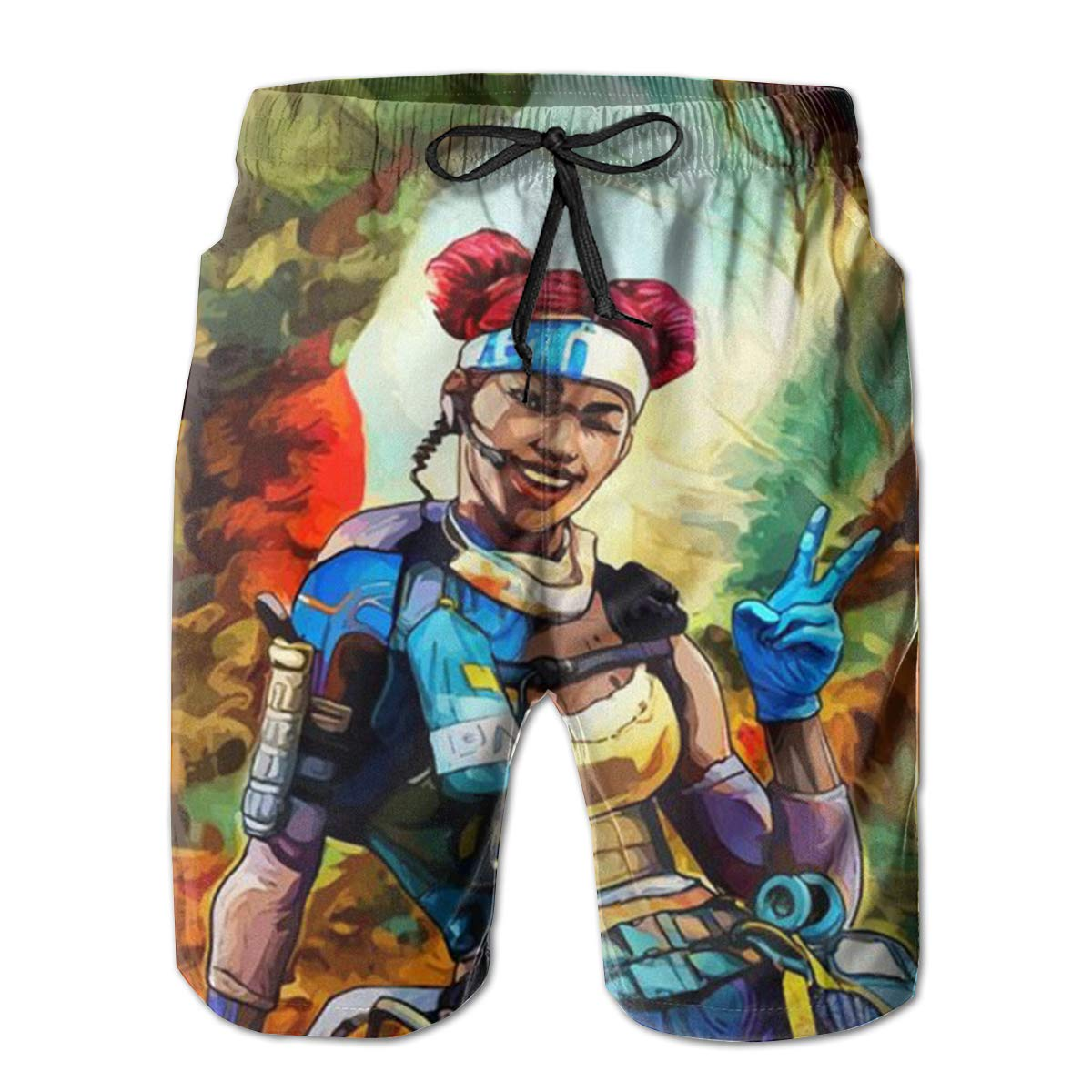 Apex Legends Boardshorts 3D Printing Quick Dry Beach Shorts for Mens