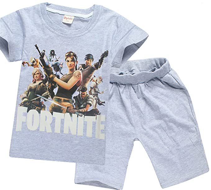 Amazon.com: SERAPHY Boys T-Shirt and Shorts Suit Fortnite Clothing Boys Clothes: Clothing
