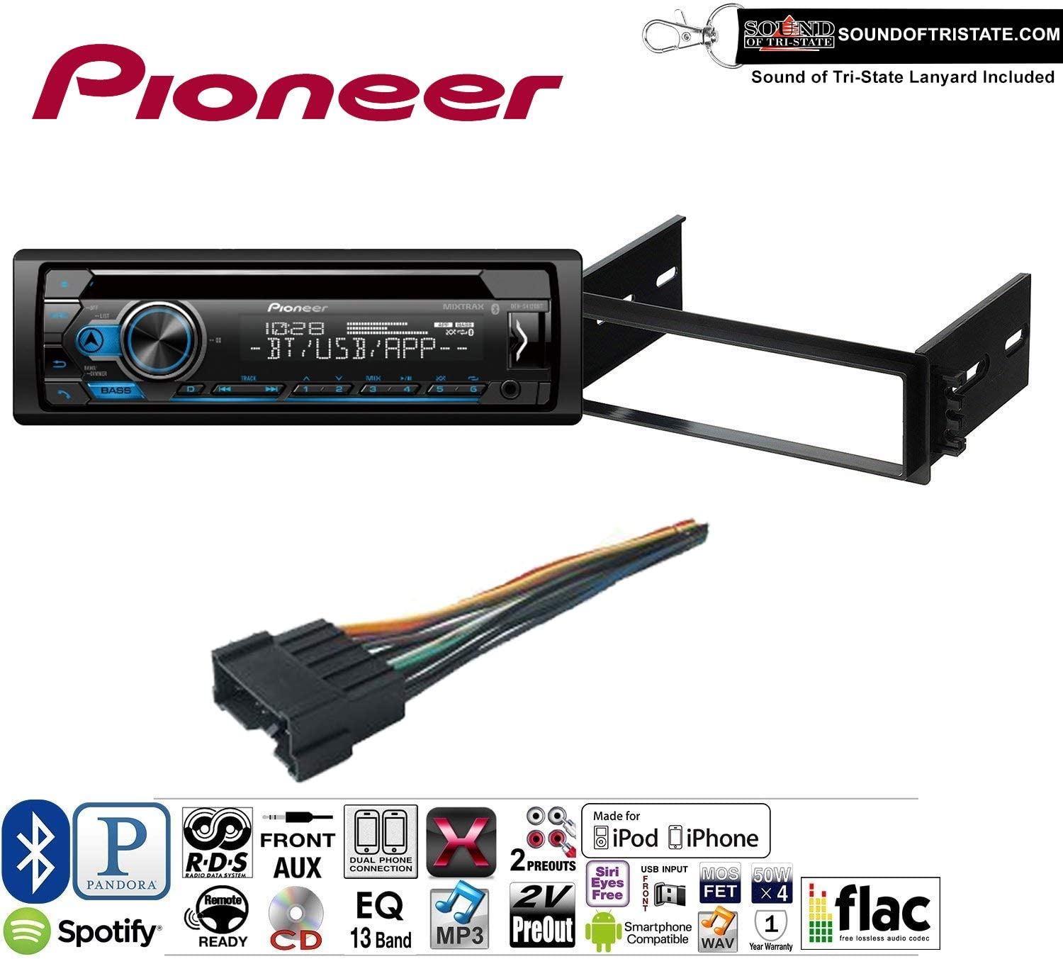 Pioneer DEH-S4120BT Single Din Car CD Stereo Radio Install Dash Mount Kit