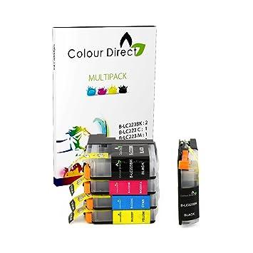 5 Colour Direct LC223 Tinta Compatible Cartuchos Por Brother DCP-J4120DW , DCP-J562DW , MFC-J4420DW , MFC-J480DW , MFC-J4620DW , MFC-J4625DW , ...