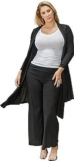 product image for Funfash Plus Size Women Black Kimono Long Cardigan Duster Sweater Jacket Coat