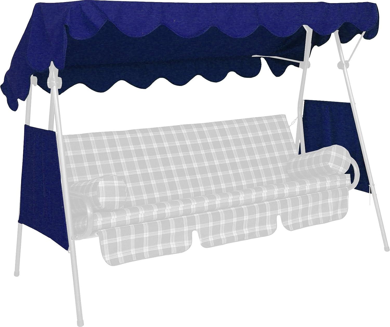 Angerer Tetto del dondolo 200 x 120 cm, qualità Swingtex, colore blu 807/04