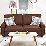 Giantex Sofa Couch Loveseat Fabric Upholstered Removable Back Seat Cushion Modern Home Living Room Furniture Set Bedroom Sofa