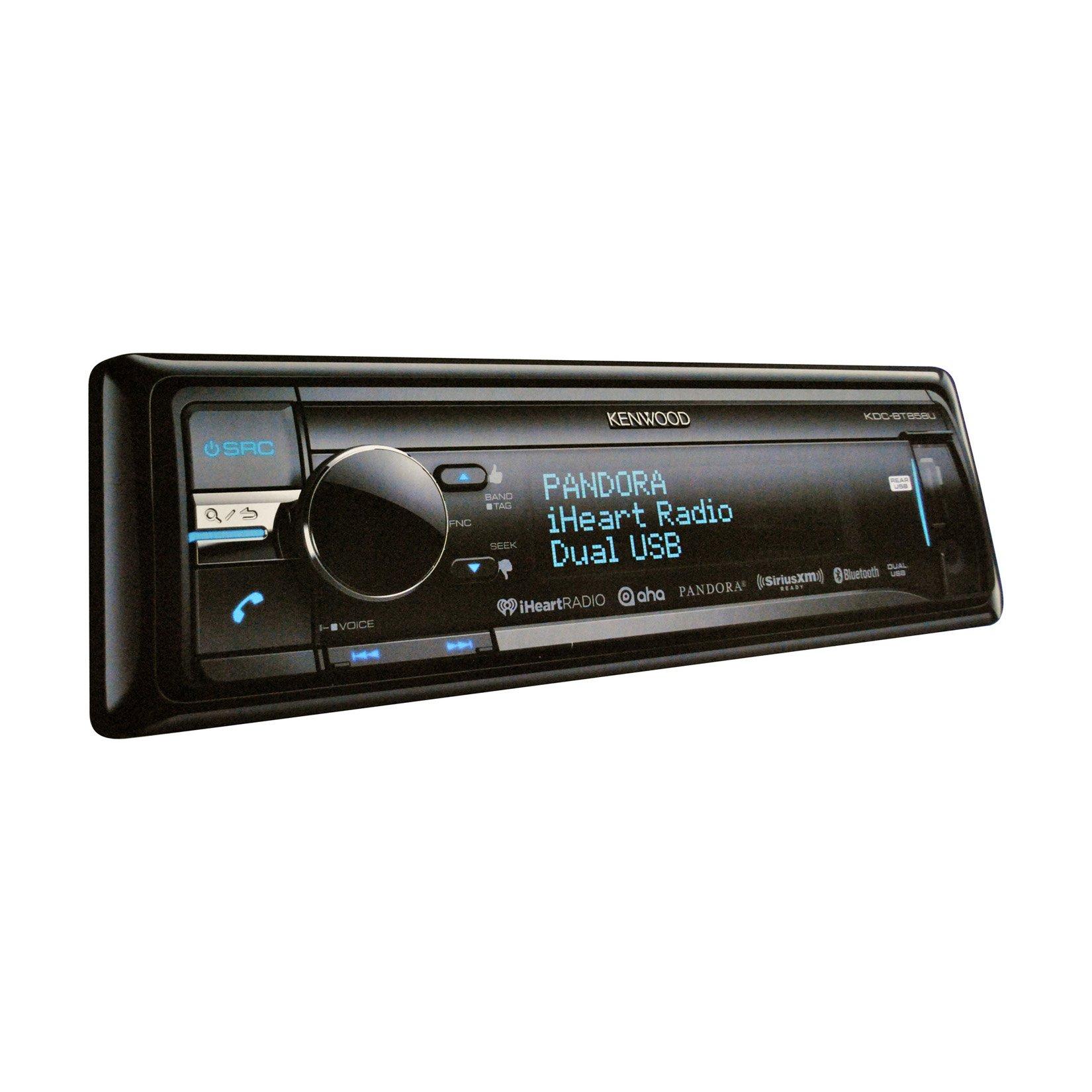 Kenwood KDC-BT858U In-Dash 1-DIN CD/MP3 Receiver with Bluetooth