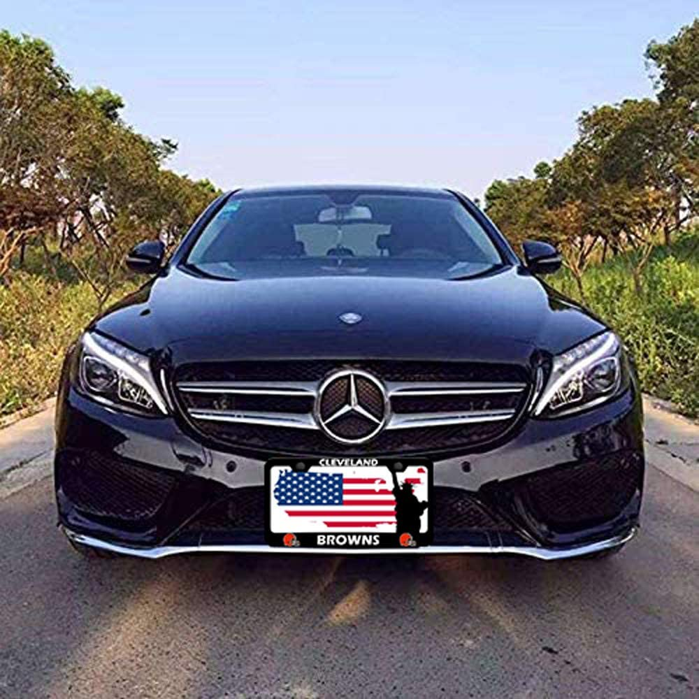 2PCS Fit San Francisco 49ers Team Tag License Plate Frame Car Accessories,The Latest Black Aluminum Alloy 49ers License Plate Frame,License Plate Frame for American Car Standard Size fit 49ers123