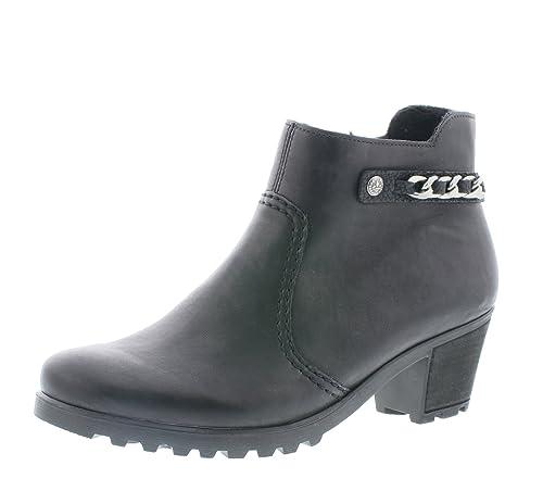 Rieker Damen Ankle Boots Y8090,Frauen Stiefel,Ankle Boot,Halbstiefel,Damenstiefelette,Bootie,knöchelhoch,Trichterabsatz 5.2cm