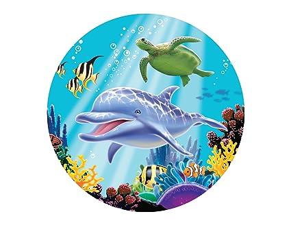 Amazon Dolphin Under The Sea Edible Cake Topper Image Cupcakes