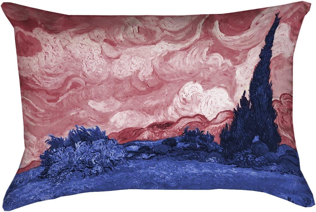ArtVerse Vincent Van Gogh 14 x 14 Spun Polyester Irises Pillow