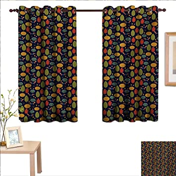 Amazon.com: Forest Decorative Curtains for Living Room Fall ...