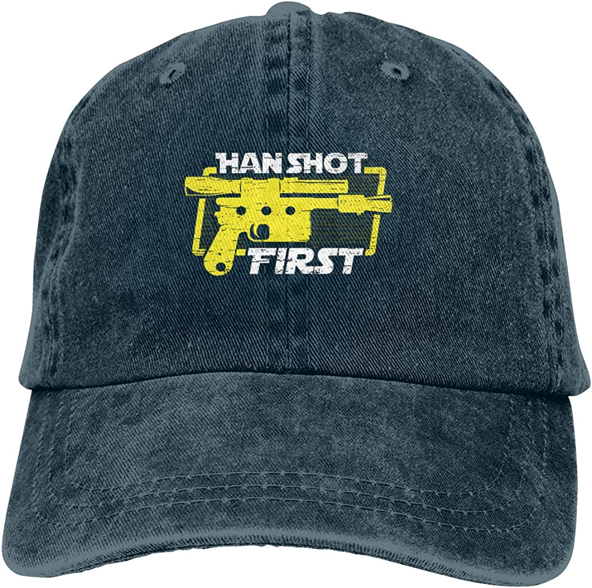 Han Shot First Caps Sports Trucker Caps Pattern Strapback Hat for Men//Women