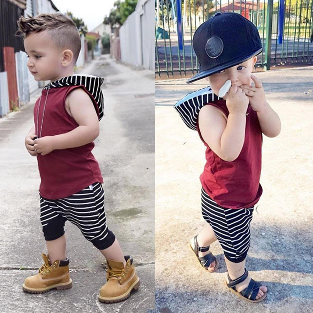 Hot Sale!2pcs Outfits Clothes Set,BeautyVan Fashion Cartoon Toddler Kids Baby Boy Hooded Vest Tops+Shorts Pants 2pcs Cute Outfits Clothes Set 12M, Camouflage