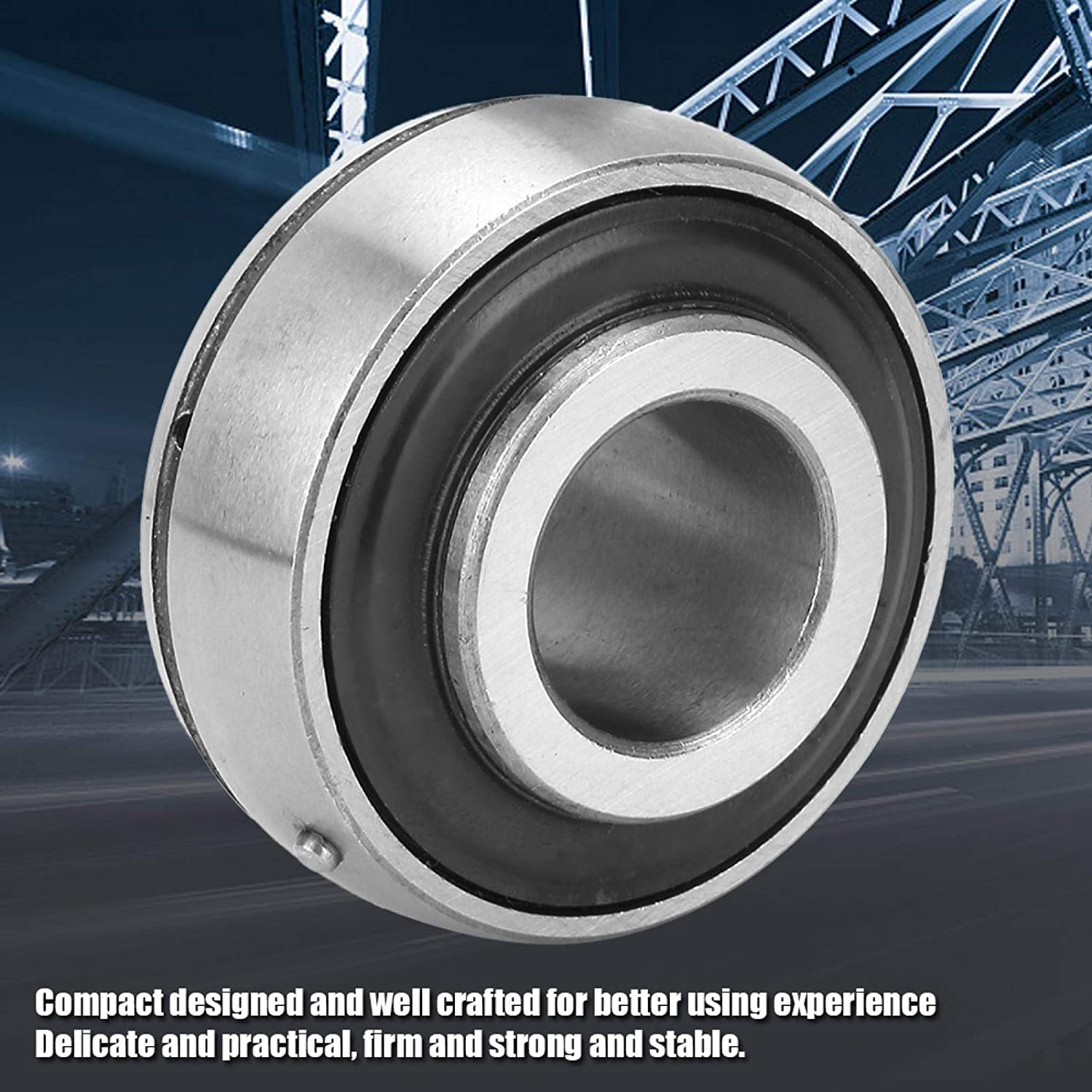 Spherical Bearings Easy to Install 5x52x34.1mm Seated Bearing Low Friction for Machine Manufacturing for conveyors UC205-16