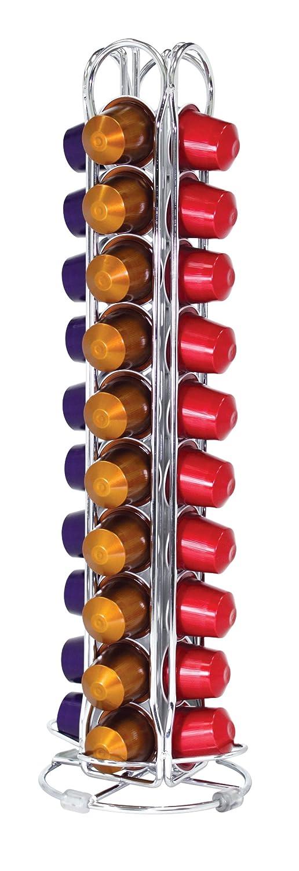 Fackelmann 20993 - Dispensador de cápsulas Nespresso (de alambre, 40 cápsulas, 4 columnas): Amazon.es: Hogar