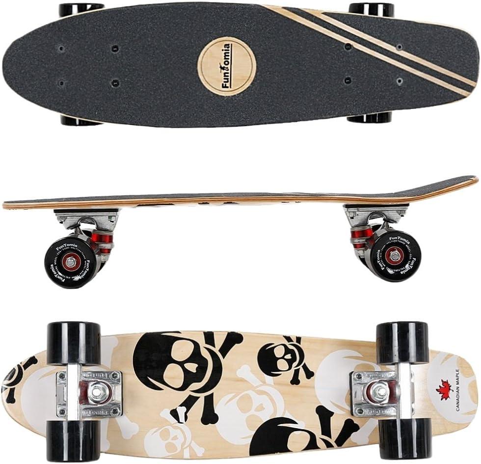 FunTomia Mini-Board Cruiser Skateboard 57cm aus 7-lagigem kanadischem Ahornholz inkl. Mach1 ABEC-11 Kugellager kaufen