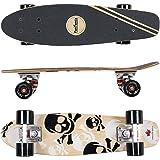 FunTomia® Skateboard Mini Retro Cruiser - Haute qualité Planche Érable canadien 7-ply, avec roues et ABEC-11 roulements