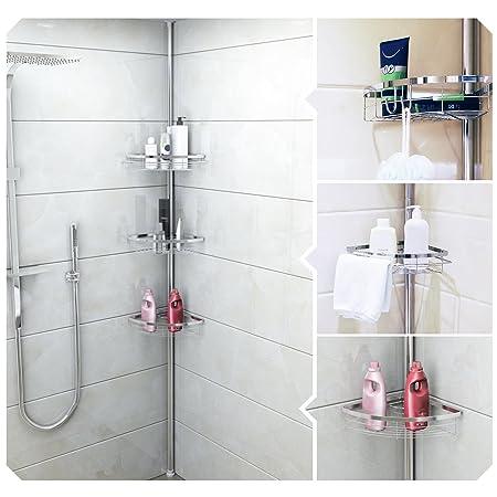 Lifewit Sy Telescopic Shower Caddy Pole 3 Tier Adjule Corner Bathroom Orger Constant Tension Bath