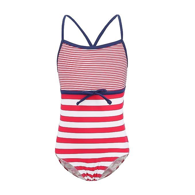 0e7f4e6f8db HowJoJo Toddler Girls One Piece Swimsuit Striped Rainbow Swimwear Beach Bathing  Suit Red 3T